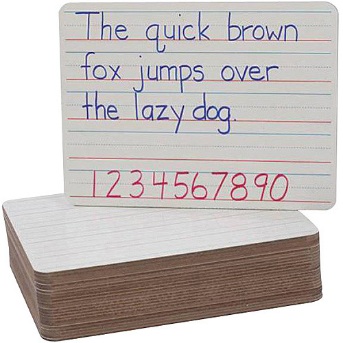 """Flipside Dry Erase Red and Blue Plain Dry Erase Board, 9"""" x 12"""", White, 24-Pack"""