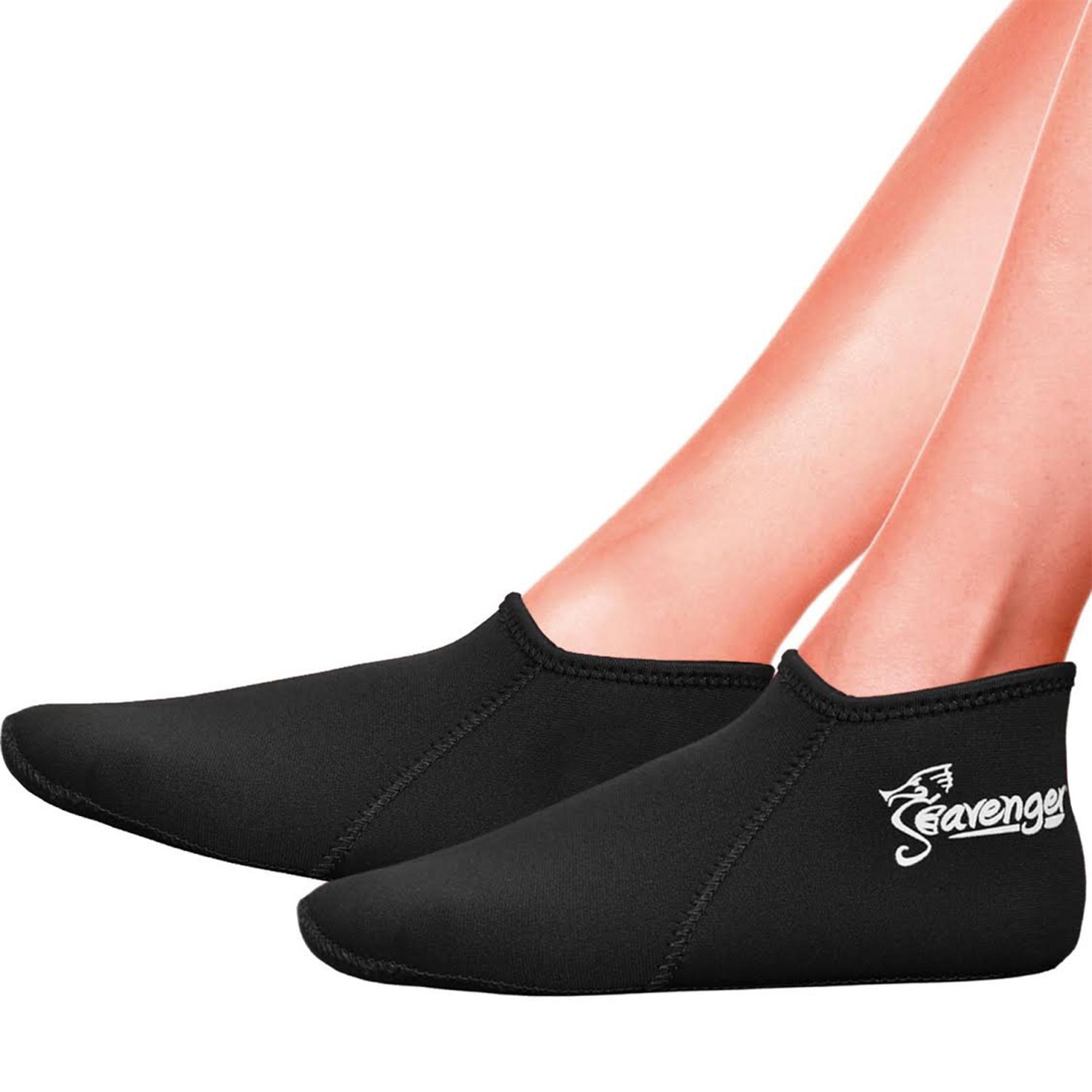 Seavenger 3mm Neoprene Socks for Scuba Diving, Snorkeling, Swimming & All Water Sports (Blue, Large)