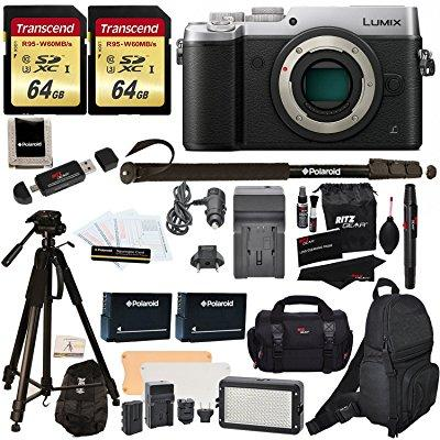 Panasonic DMC-GX8SBODY LUMIX GX8 Interchangeable Lens DSLM Camera Body Only + 2 Transcend 64 GB High Speed... by Panasonic