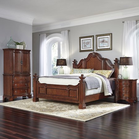 Home Styles Santiago King Bed 2 Night Stands And Door Chest