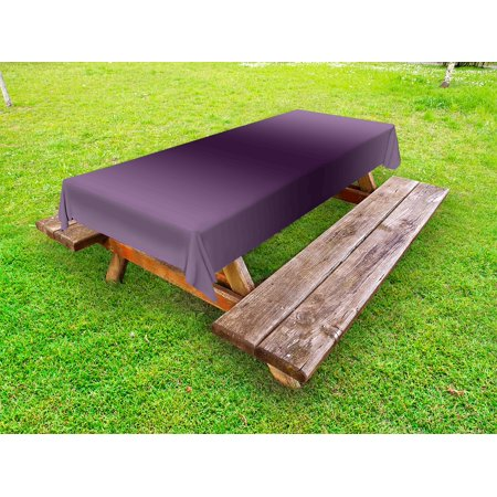 Ombre Outdoor Tablecloth, Hollywood Glam Show Inspired Color Ombre Design Abstract Representation Digital Image, Decorative Washable Fabric Picnic Table Cloth, 58 X 84 Inches,Purple, by Ambesonne - Hollywood Bowl Halloween Show