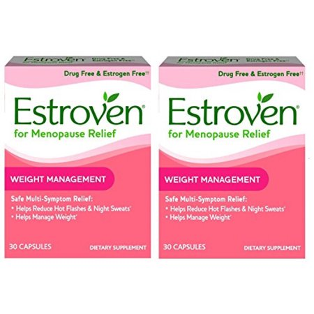 Estroven Weight Management - Multi-Symptom Menopause Relief* – With Ingredients to Help Reduce Hot Flashes and Night Sweats* - 30 Capsules - Pack of