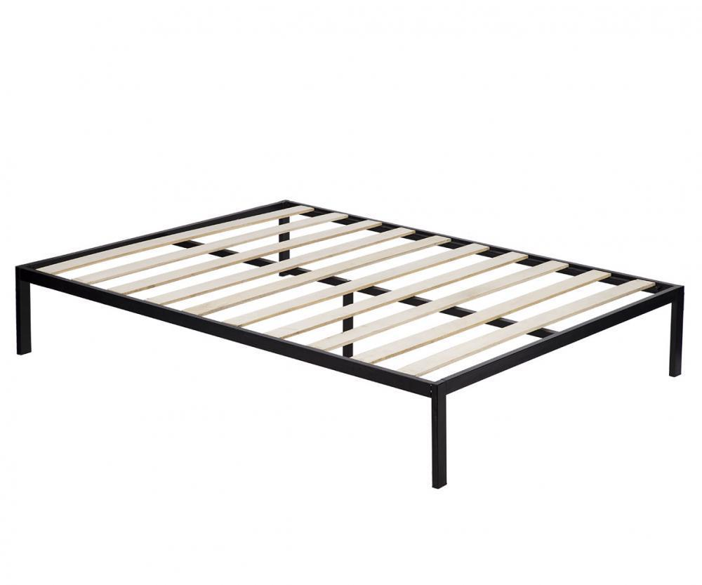 Full Size Bed Wood Slats Metal Platform Bed Frame Mattress Foundation by