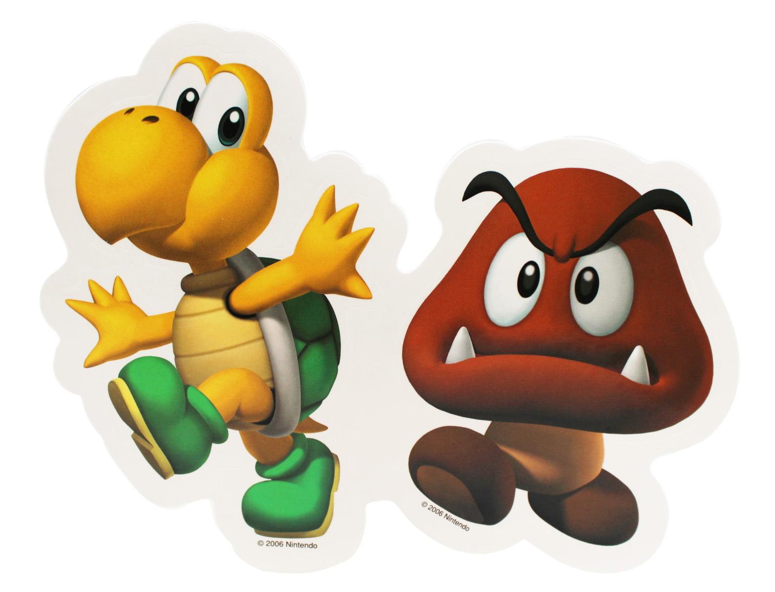 Super Mario Goomba And Koopa Troopa Decorative Decal Sticker