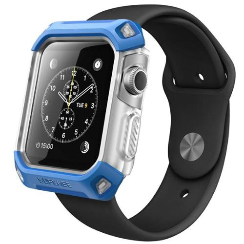 Apple Watch Case, Unicorn Beetle Series Premium Protective Bumper Case for Apple Watch 38 mm 2015-Frost/Blue