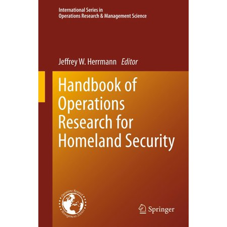 Handbook of Operations Research for Homeland Security -