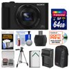 Sony Cyber-Shot DSC-HX90V Wi-Fi GPS Digital Camera with 64GB Card + Battery + Charger + Case + Tripod + Kit