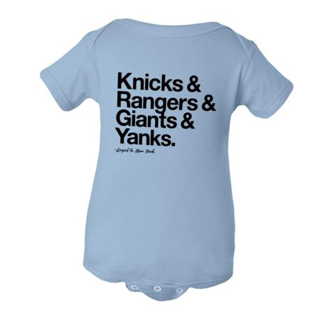 PleaseMeTees™ Baby Jumpsuit Loyal to New York NY Knicks Rangers Giants  Yankees Sports Creeper - Walmart.com b8783f410