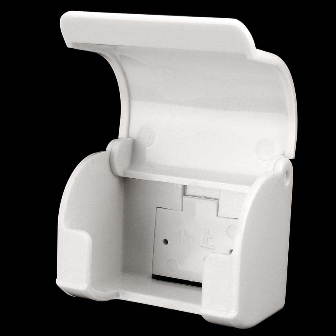 Man Bathroom Plastic Paste Strap Hanger Storage Rack Shaver Razor Holder White - image 3 de 5
