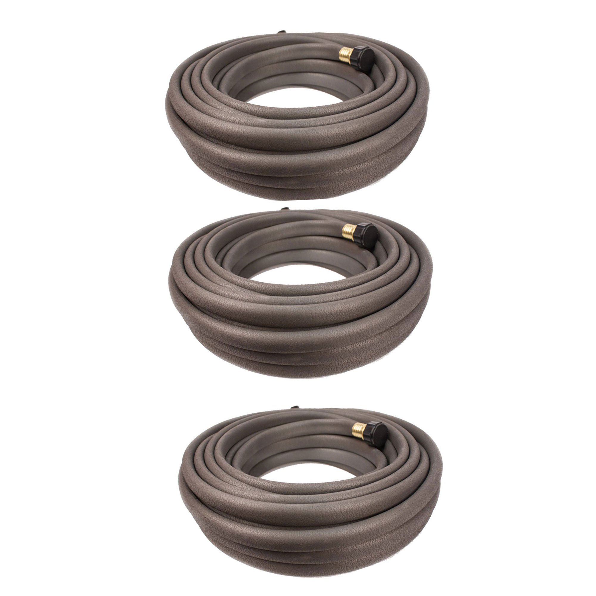 Apex 100 Foot Long Flexible Water Conservation Garden Area Soaker Hose (3 Pack)