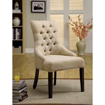 America Accent Chairs.Furniture Of America Alise Tufted Accent Chair In Ivory Set Of 2