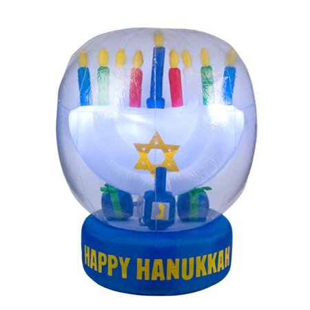 The Holiday Aisle Hanukah Decoration 5 Foot Inflatable (Hanukkah Supplies)