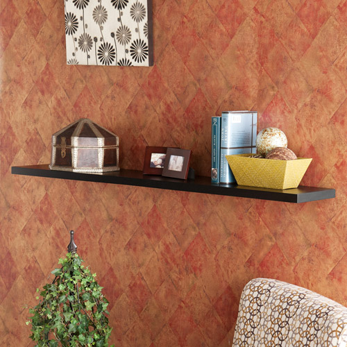 "Denver 10"" x 48"" Floating Shelf, Black"