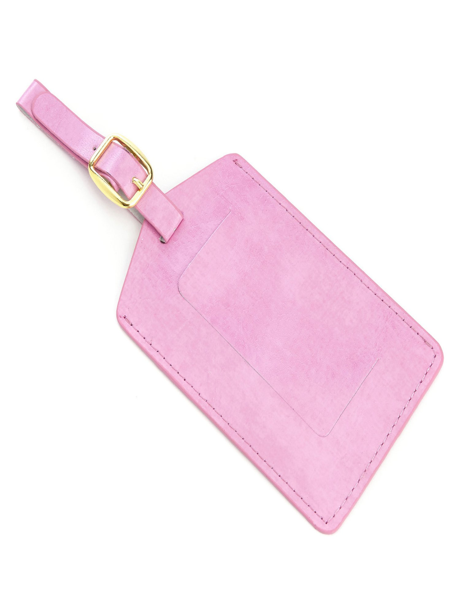 Luggage Tag Travel ID with Privacy Flap in Genuine Leather