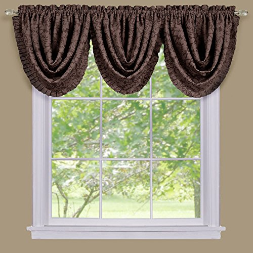 Park Avenue Collection Sutton Waterfall Valance - Brown