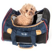 Airline Approved Aero-Zoom Lightweight Wire Framed Collapsible Pet Carrier