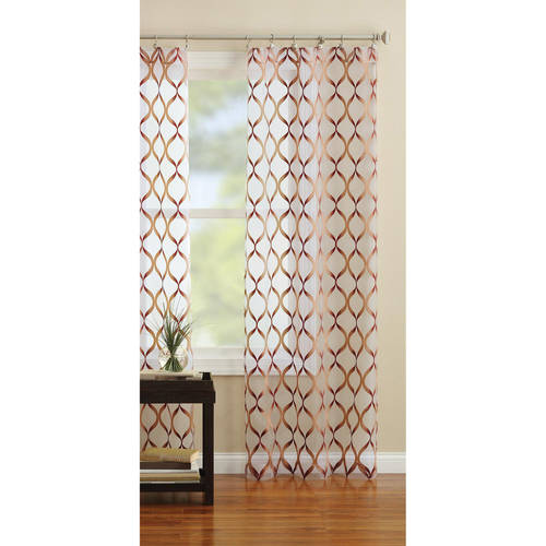 Better Homes & Gardens Flame Curtain Panel