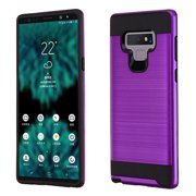 Samsung Galaxy Note 9 - Phone Case Protective Shockproof Brushed Hybrid Rubber Rugged Cover PURPLE Slim Case for Samsung Galaxy Note 9