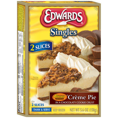 Edwards Singles Reese's Creme Pie, 2 count, 5.6 oz