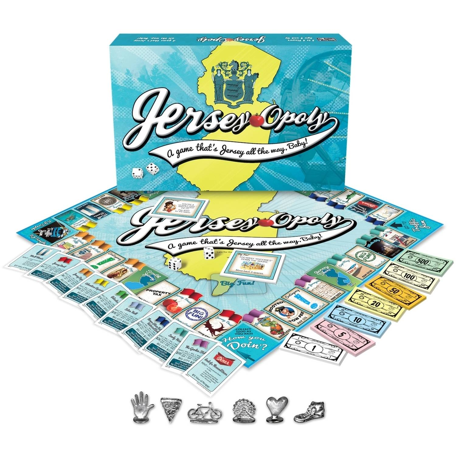 Late for the Sky Jersey-opoly Game