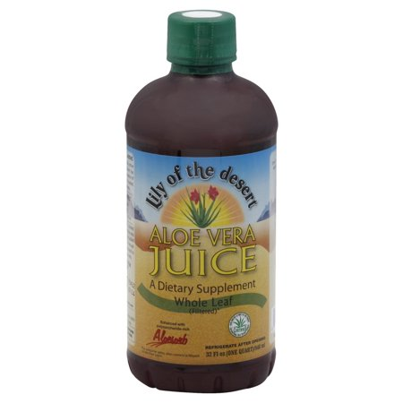 Lily of the Desert Whole Leaf Aloe Vera Juice, 32 fl (Desert Leaf)