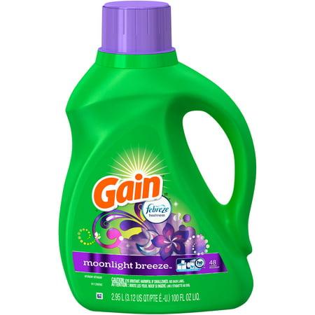 Gain with Febreze Moonlight Breeze Liquid Laundry Detergent, 100 fl oz