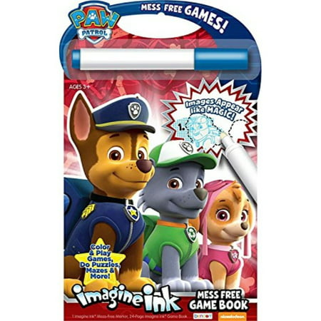 Nickelodeon Bendon Paw Patrol Imagine Ink: Mess Free Game Book