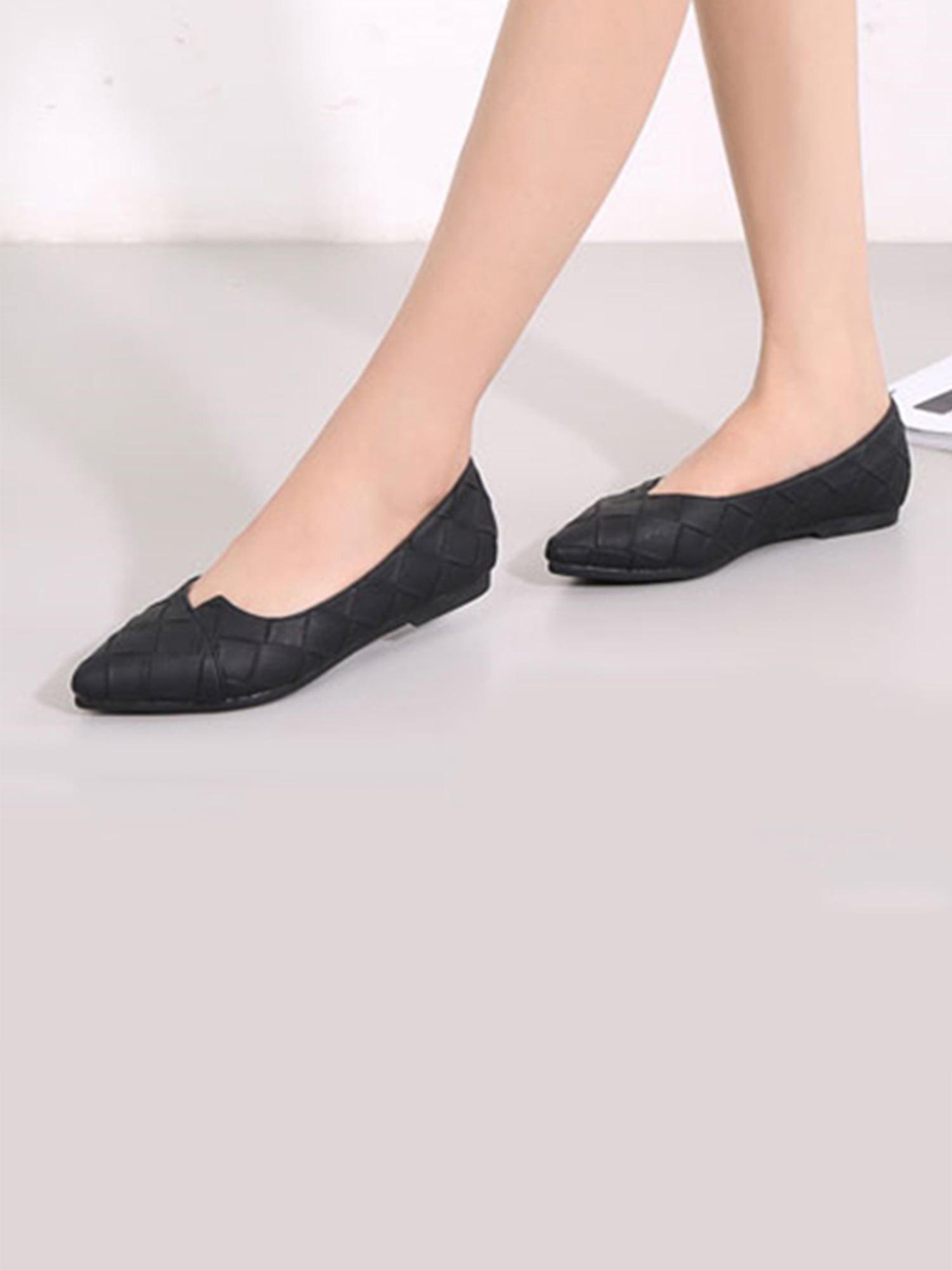 Dear Time Pointy Toe Slip On Women Ballerina Ballet Flat Shoes