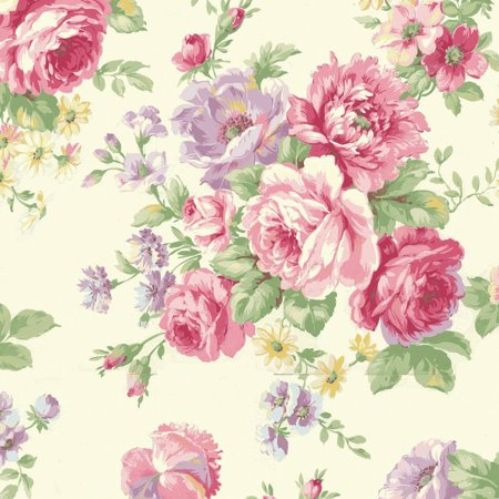 Clearance Sale~Love Rose Love~Large Bouquet on Ivory~RU2300-11A~Cotton Fabric by Quilt Gate