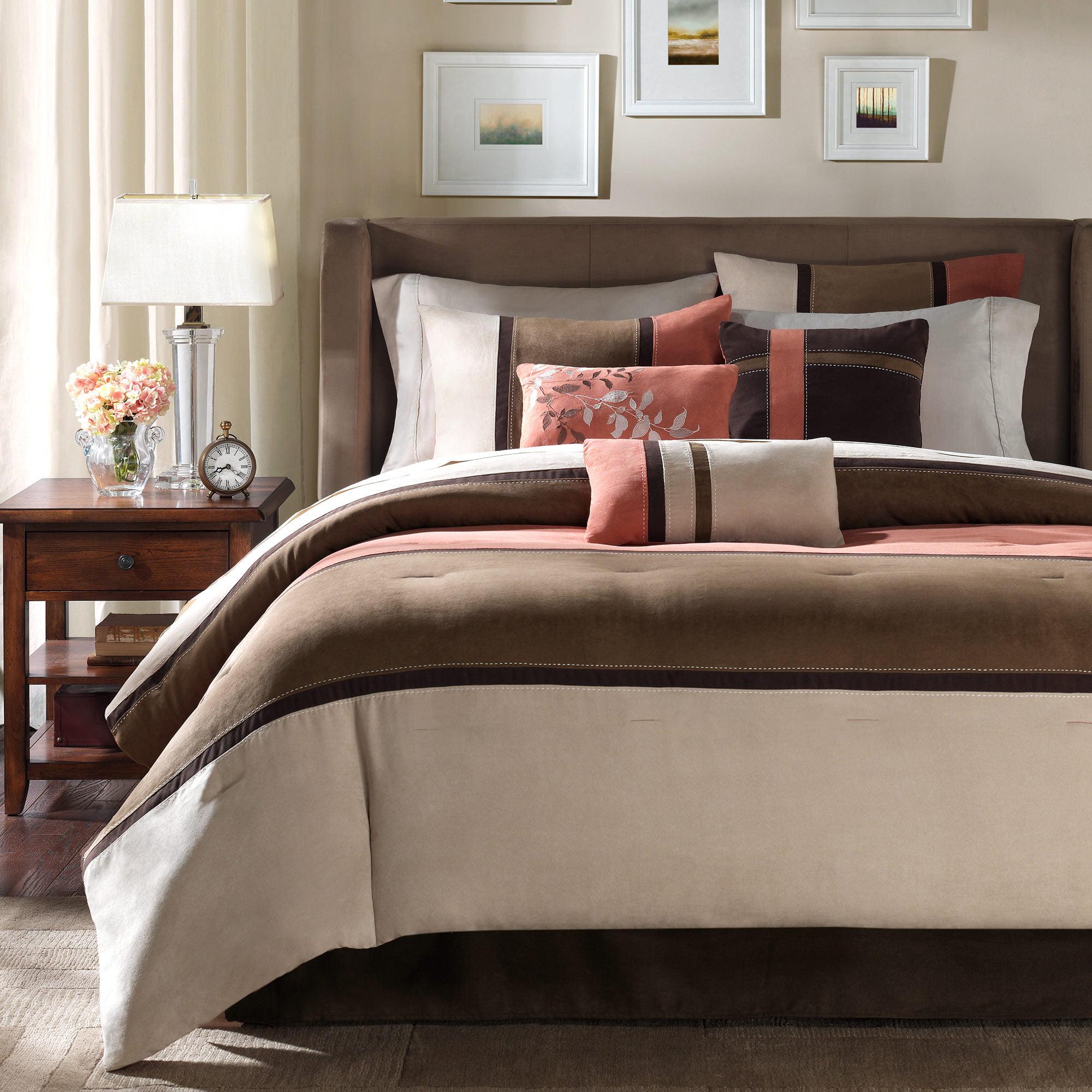 Home Essence Overland 7-Piece Microsuede Comforter Set