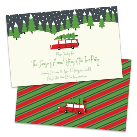 Personalized Christmas Tree Holiday Party Invitation ()