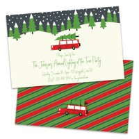 Personalized Christmas Tree Holiday Party Invitation