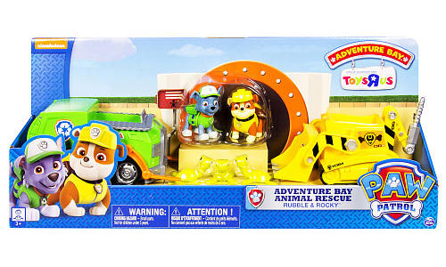 Paw Patrol Adventure Bay Animal Rescue Playset [Rubble & Rocky] by SPIN MASTER