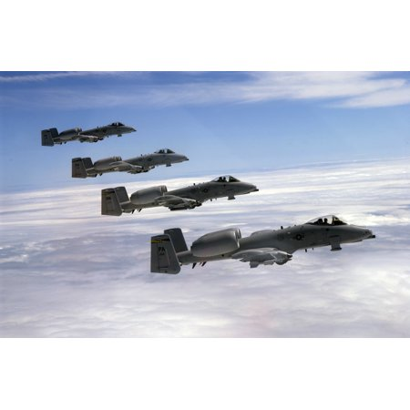 LAMINATED POSTER Four A-10s from the 111th Fighter Wing (FW), Willow Grove Air Reserve Station, PA fly in formation a Poster Print 24 x (Willow Grove)