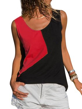 b15b473eb07 Product Image 711ONLINESTORE Women Sleeveless Color Block Top