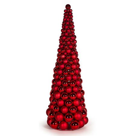 Autograph Foliages A-171832 3 ft. Ball Cone Tree, Red