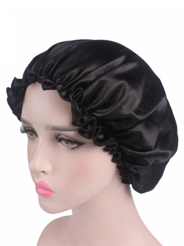 Women Soft Pure Satin Silk Sleeping Cap Night Sleep Hat Bonnet Hair Care Scarves