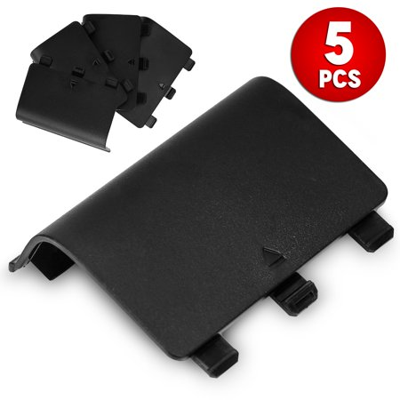 - TSV 5 Battery Back Cover Door Lid Battery Shell Replacement For XBOX One Wireless Controller Black