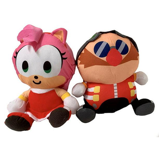 Sonic The Hedgehog 9 Inch Dr Eggman Amy Rose Stuffed Plush Toy Characters Walmart Com Walmart Com