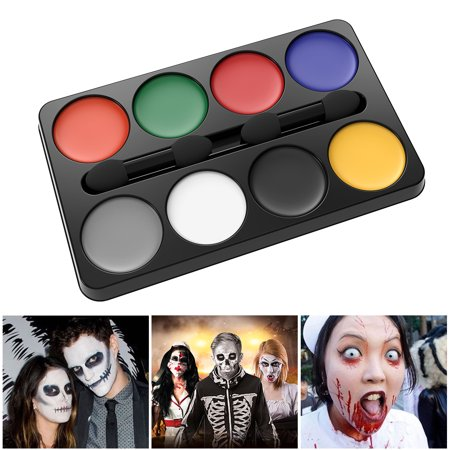 Professional Halloween Makeup Kit 8-Color Costume Horror Makeup Palette Pallet (Red/ Yellow/ Blue/ Green/ White/ Black/ Grey/ Orange)](Mens Makeup Ideas For Halloween)