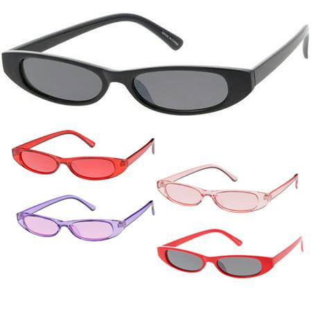 MLC Eyewear Small Tiny Oval Sleek Fashion Sunglasses