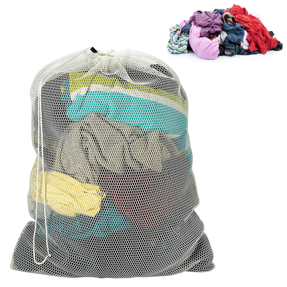 Mesh Laundry Storage Wash Bag Clothes College Commercial Heavy Duty XL Jumbo New