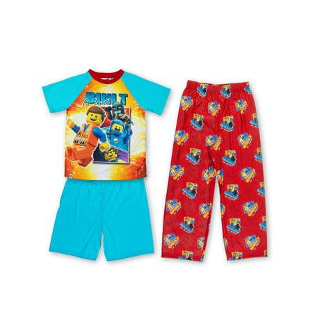 Boys' Lego Movie 2 3 Piece Pajama Sleep Set (Little Boy & Big - Boys Glow In The Dark Pajamas