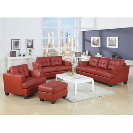 Prime Acme Furniture 15100B Bonded Leather Sofa Red Walmart Com Pdpeps Interior Chair Design Pdpepsorg