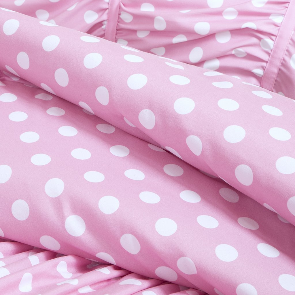 Pink Comforter With White Polka Dots Tyres2c