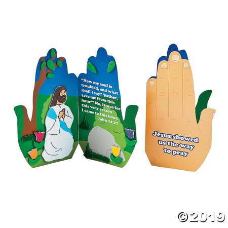 Praying in the Garden Handprint Craft Kit - Handprint Art Projects