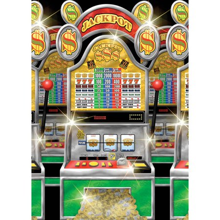 Casino Slot Machine Room Roll Decoration (Each) - Party Supplies