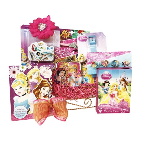 Disney Princess Sleigh Gift Baskets for Girls Perfect Gift Baskets for Girls 3 to 6 Years Old - 4 Year Old Christmas Gifts