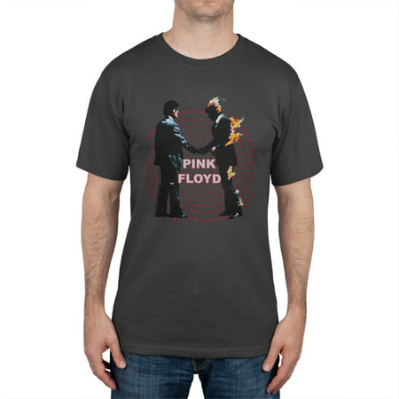 Pink Floyd - Distressed Burning Man Soft T-Shirt (Best Clothes For Burning Man)