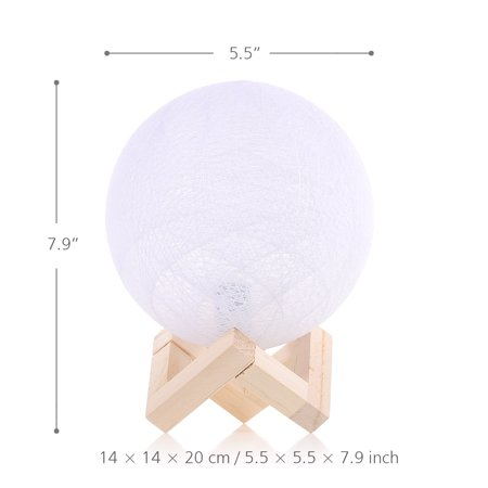 Bedroom bedside creative energy saving night light adjustable modern pastoral romantic birthday gift linen table lamp yellow white light - image 7 of 7